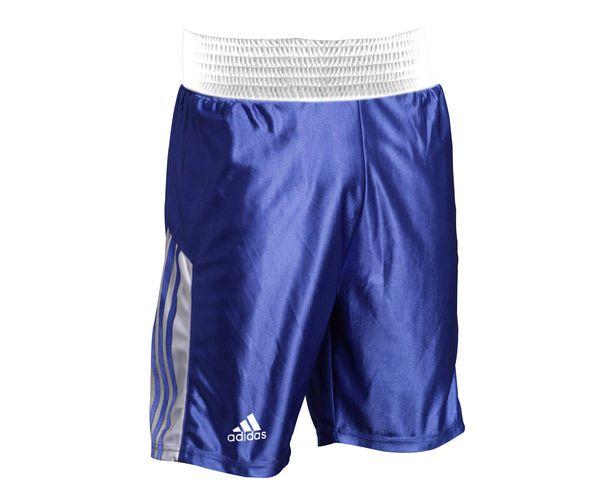 Шорты боксерские Amateur Boxing Shorts синие, синие AdidasШорты для бокса<br>Шорты боксерские adidas Amateur Boxing Shorts. Материал: полиэстер.<br><br>Размер INT: XL