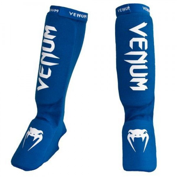 Щитки Venum Kontact Shinguards and Instep Blue