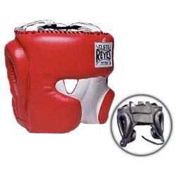 Шлем боксерский, тренировочный, Размер L Cleto ReyesБоксерские шлемы<br>Идеальная анатомическая форма<br> Многослойный наполнитель из латексной пены<br> Удобная конструкция крепления<br> Хороший обзор<br> Материал - 100% кожа<br><br>Цвет: Чёрный