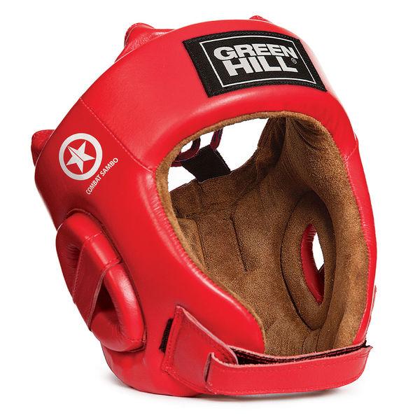 Шлем five stars combat sambo, Красный Green Hill