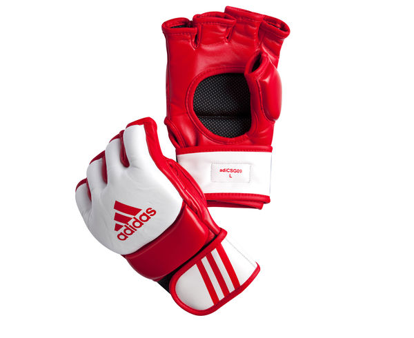 Перчатки для смешанных единоборств Competition Training красно-белые, M Adidas (adiCSG091)
