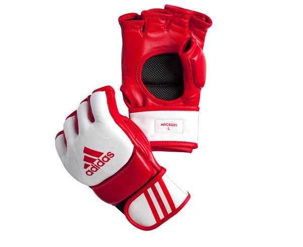 Перчатки для смешанных единоборств Competition Training красно-белые, S Adidas (adiCSG091)