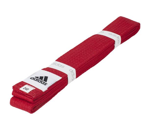 Пояс для единоборств Club, красный AdidasЭкипировка для Каратэ<br>Пояс для единоборств adidas Club красный. Club Сolor. Универсальный пояс для кимоно. Ширина 40мм. Материал:60% хлопок, 40% полиэстер.<br><br>Размер: 300 см