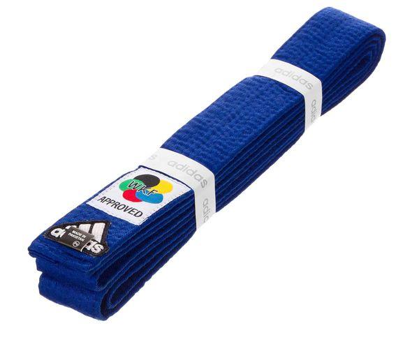 Пояс для карате Elite WKF, синий Adidas фото