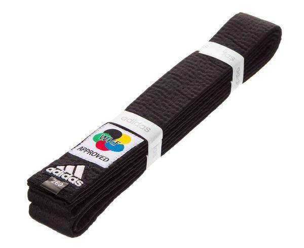 Пояс для карате Elite WKF, черный Adidas (adiB242K)
