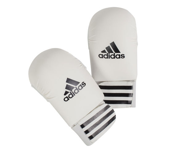 Накладки для карате Smaller, белые Adidas (661.11)