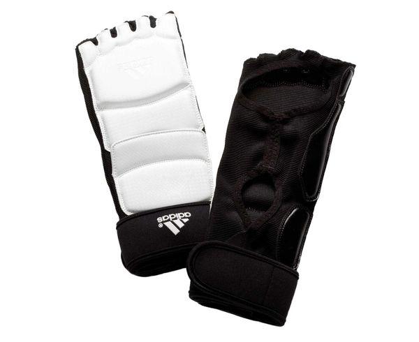Защита стопы для тхэквондо WTF Foot Socks, белая Adidas (adiTFS01)