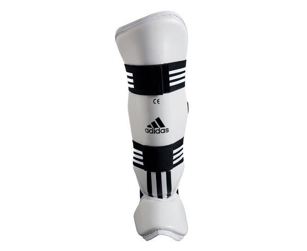 Защита голени и стопы для тхэквондо WTF Shin Instap Pad Protector, белая Adidas (adiTSP02)