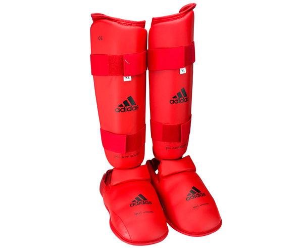 Защита голени и стопы WKF Shin & Removable Foot, красная Adidas