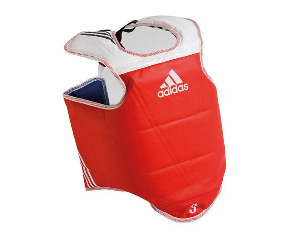Защита корпуса двухсторонняя Adult Body Protector Reversible WTF, сине-красная Adidas (adiTAP01)