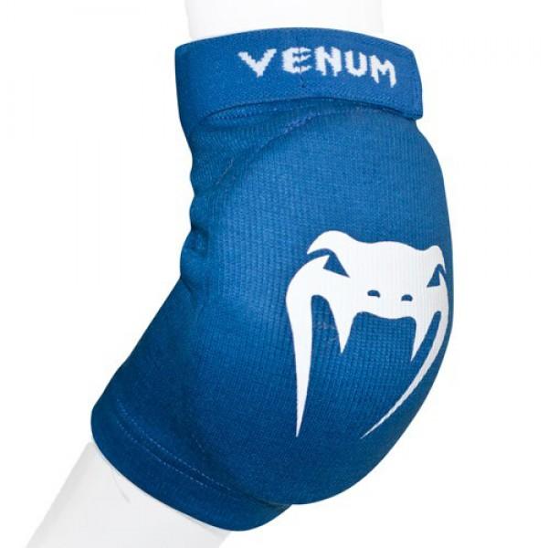 Налокотники Venum Kontact Elbow Protector - Cotton Blue VenumЗащита тела<br>Налокотники от Venum изготовлены из высококачественного хлопка. Доступные цвета : черный, красный или синий. Для занятий тайским боксом и ММА. Можно стирать в машинке.<br><br>Размер: Без размера