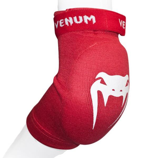 Налокотники Venum Kontact Elbow Protector - Cotton Red VenumЗащита тела<br>Налокотники от Venum изготовлены из высококачественного хлопка. Доступные цвета : черный, красный или синий. Для занятий тайским боксом и ММА. Можно стирать в машинке.<br><br>Размер: Без размера