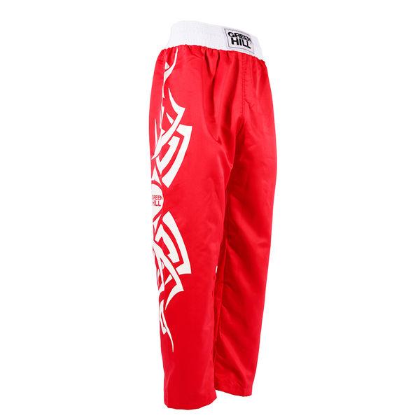 Кикбоксерские штаны master, Красные Green HillШтаны для кикбоксинга<br>Яркие и комфортные штаны для занятий кикбоксингом. <br> Эргономичный крой<br> 100% полиэстер<br> Приятный дизайн<br> Не стесняют движений<br><br>Размер INT: Размер L