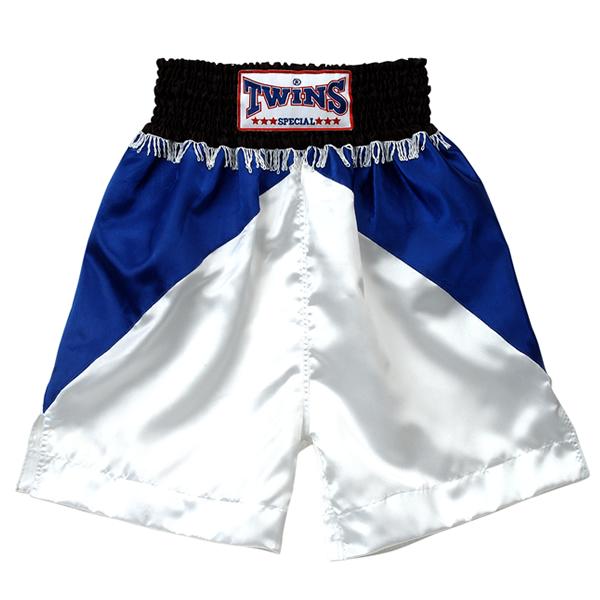 Боксерские шорты Twins Special, Синий/ черный Twins SpecialШорты для бокса<br>Подходят для занятий спортом по боксу, ММА и тайскому боксу<br> Обладают яркой привлекательной раскраской<br> Не сковывают движения<br> Материал - сатин<br><br>Размер INT: Размер S