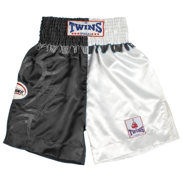 Боксерские шорты Twins Special, Чёрный/белый Twins SpecialШорты для бокса<br>Подходят для занятий спортом по боксу, ММА и тайскому боксу<br> Обладают яркой привлекательной раскраской<br> Не сковывают движения<br> Материал - сатин<br><br>Размер INT: Размер M