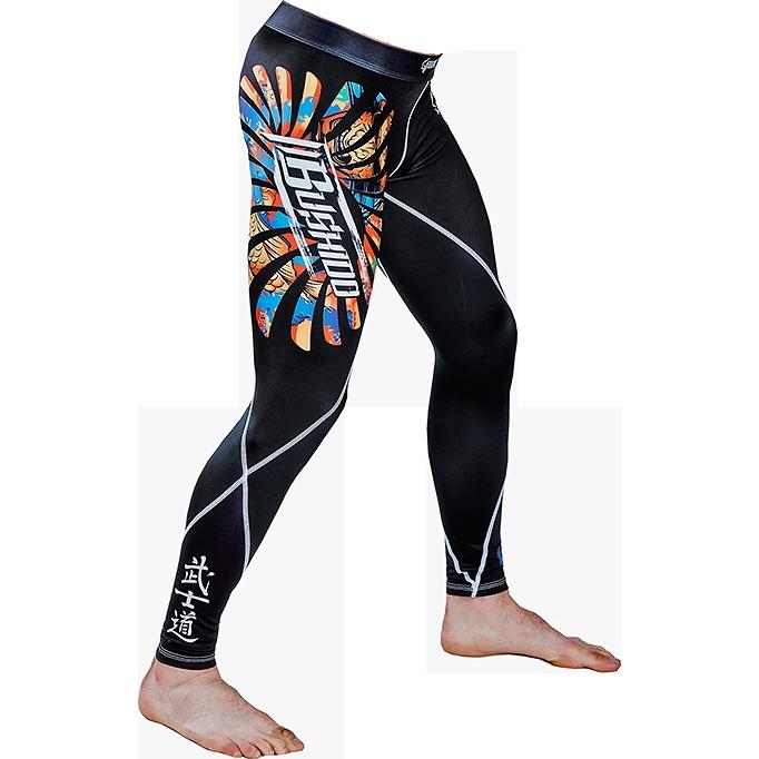 Компрессионные штаны Ground Game Bushido Ground GameКомпрессионные штаны / шорты<br>Компрессионные штаны Ground Game Bushido. Леггинсы Ground Game предназначены для грепплинга, MMA(смешанных единоборств), кроссфита, бега. Также надеваются как дополнительная защита под штаны от ги или шорты. Компрессия этих штанов способствует кровотоку, тем самым повышается мышечная производительность. Штаны защитят вас от мелких травм, таких как царапины, ссадины, ожоги при работе на матах. Также леггинсы защищают от микробов. Компрессионные штаны Ground Game сделаны из смеси спандекса и полиэстера. Ткань достаточно прочная и быстросохнущая, что позволит вам использовать леггинсы регулярно. Уход: Машинная стирка в холодной воде, деликатный отжим, не отбеливать!<br><br>Размер INT: M