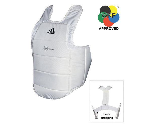 Защита корпуса Chest Guard WKF белая Adidas (adiP03)