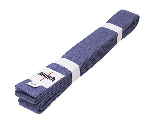 Пояс для единоборств Clinch Budo Belt, синий Clinch GearЭкипировка для Дзюдо<br>Пояс Clinch универсальный для единиборств Budo Belt . 100% хлопок, стойкое окрашивание, простроченный -8 строчек. Ширина 4,5 см, жесткий.<br><br>Размер: 260 см