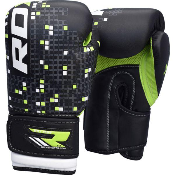 Детские боксерские перчатки RDX BLACK/GREEN , 6 oz RDX фото