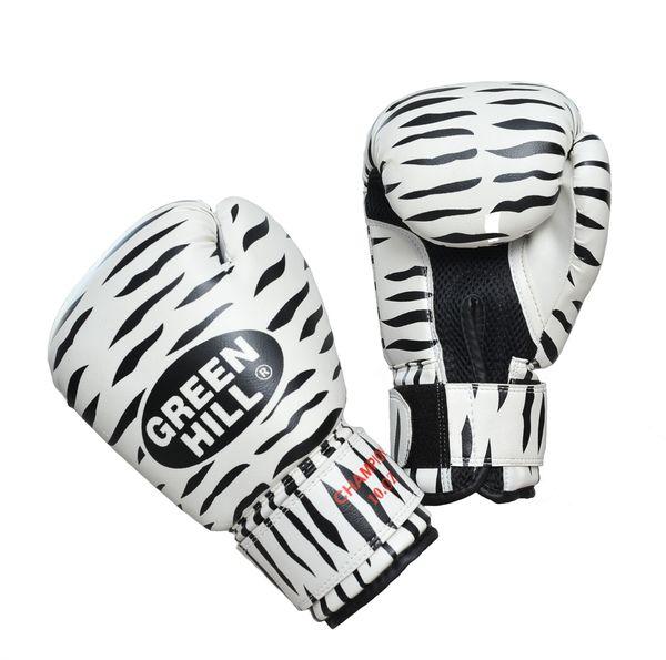 Боксерские перчатки Green Hill ZEBRA, 10oz Green Hill (BGC-2041)