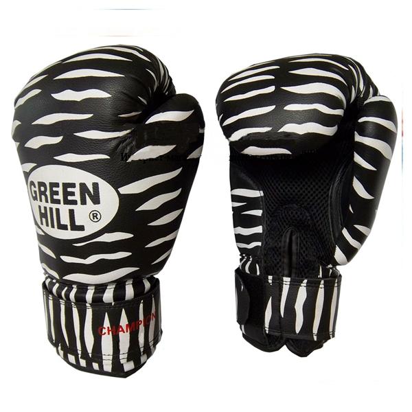 Боксерские перчатки Green Hill ZEBRA, 8oz Green Hill (BGC-2041)
