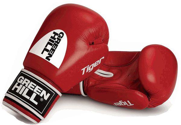 Перчатки боксерские tiger (c новым логотипом), 12 oz Green Hill (BGT-2010с-00)