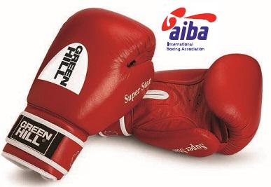 Боксерские перчатки super star одобренные aiba, 12 oz Green Hill фото