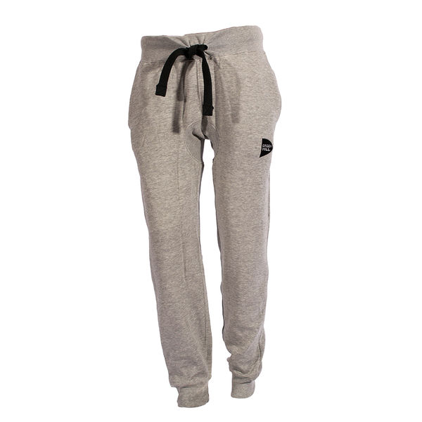 Тренировочные брюки на эластичных манжетах, серый Green Hill