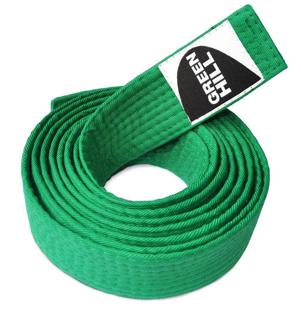 Пояс для каратэ, Зеленый Green HillЭкипировка для Каратэ<br>Материал: ХлопокВиды спорта: КаратэПояс для кимоно. Материал: 100% хлопок.<br><br>Размер: 240см