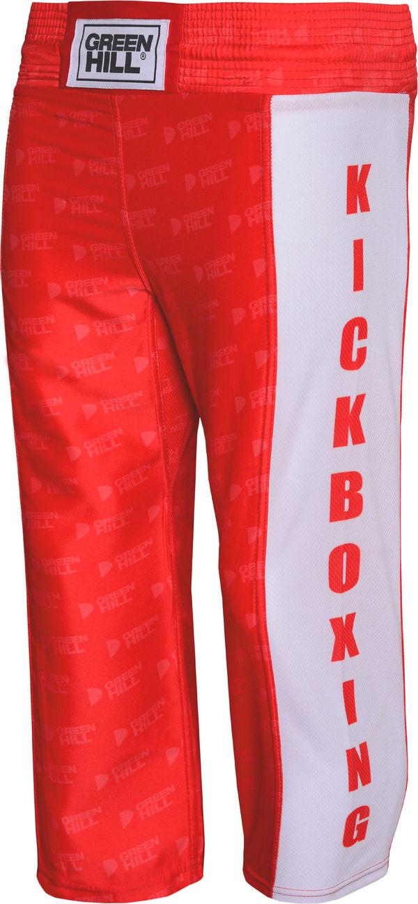 Детские штаны для кикбоксинга kick kids, Красный Green Hill (KBT-3628)