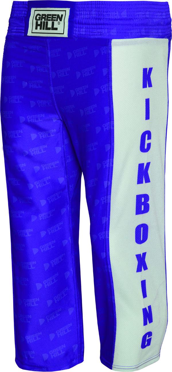 Детские штаны для кикбоксинга kick kids, Синий Green HillШтаны для кикбоксинга<br>Брюки для кикбоксинга. Материал: 100% полиэстер. Фактура тяжелый атлас.<br><br>Размер INT: 6 лет