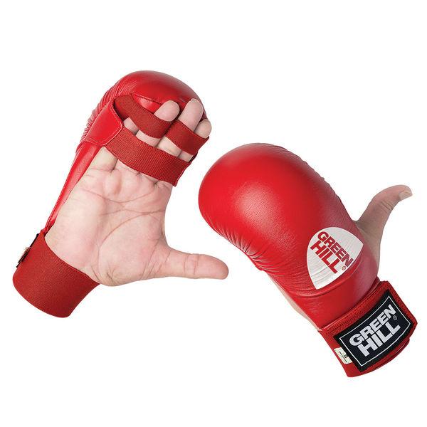 Накладки каратэ cobra, Красный Green HillЭкипировка для Каратэ<br>Накладки для каратэ Green Hill Cobra, сделаны из искусственной кожи, имеют пенополиуретановый защитный наполнитель, отлично амортизирующий удары, защищая как самого бойца, так и его соперника от ушибов и других травм, делая учебные тренировки наименее травмоопасными. Накладки имеют надежную систему крепления и не слетят во время боя.<br><br>Размер: XL