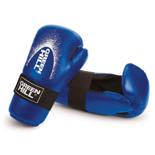 Перчатки для кикбоксинга 7-contact, Синий Green Hill фото