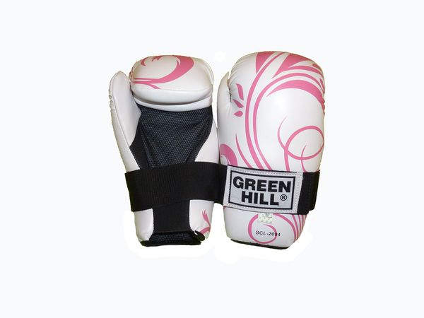 Женские перчатки 7-contact ladies белый с розовым, Белый с розовым Green Hill (SCL-2094)