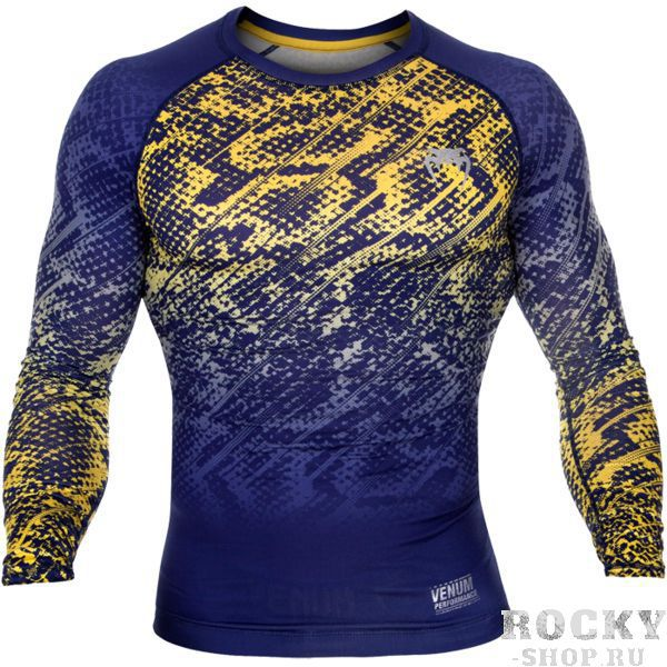 Рашгард Venum Tropical Blue/Yellow L/S