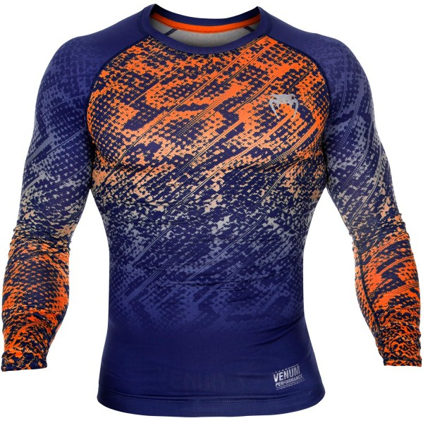 Рашгард Venum Tropical Blue/Orange L/S