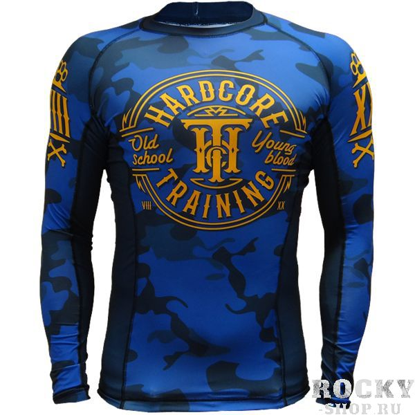 Рашгард Hardcore Training Blue Camo