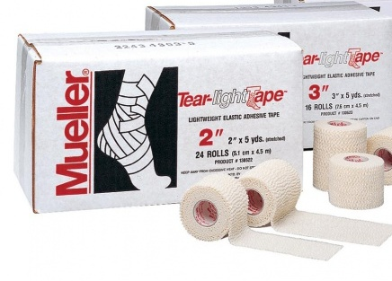 MUELLER 130633 TEAR-LIGHT TAPE 7,5 x 6,9 m (коробка 16 шт.)Тейп