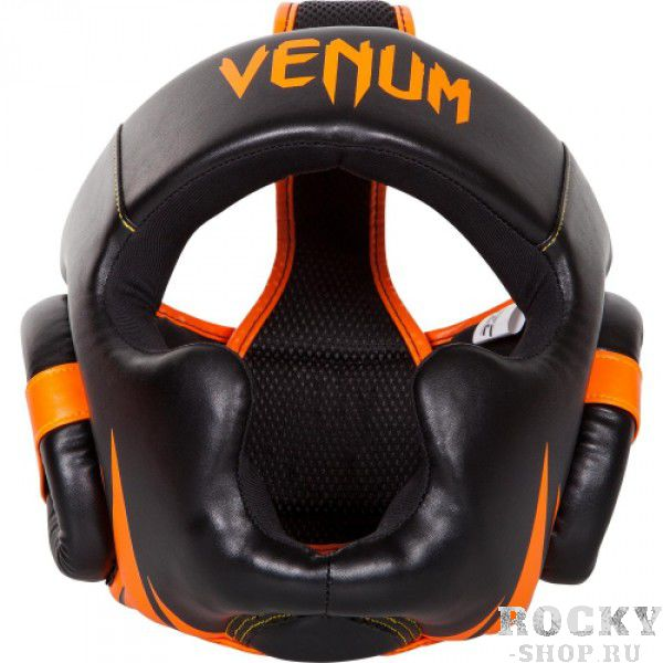 Шлем для тайского бокса Venum Challenger 2.0 - Neo Orange/Black