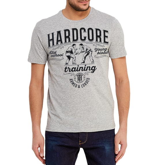 Футболка Hardcore Training BJJ Melange