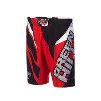 Шорты для MMA Green Hill Black/Red