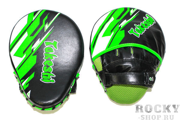Боксерские лапы Takeshi Fight Gear Green/Black