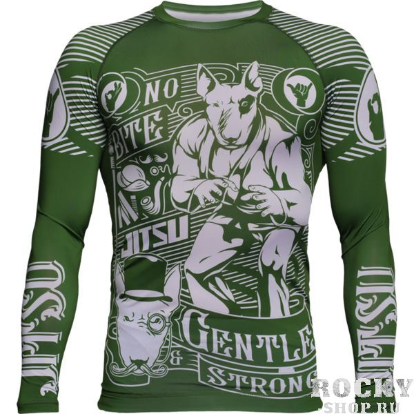 Рашгард Jitsu Gentle & Strong Green