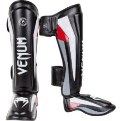 Щитки Venum «Elite» Standup Shinguards - Black/Red/Grey