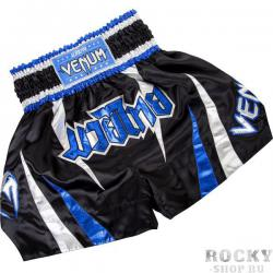 Шорты тайские Venum «Chaiya» Muay Thai Shorts - Black/Blue