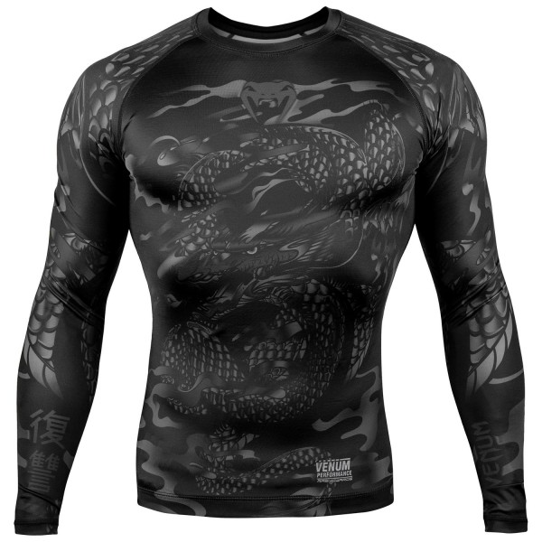 Рашгард Venum Dragons Flight Black/Black L/S