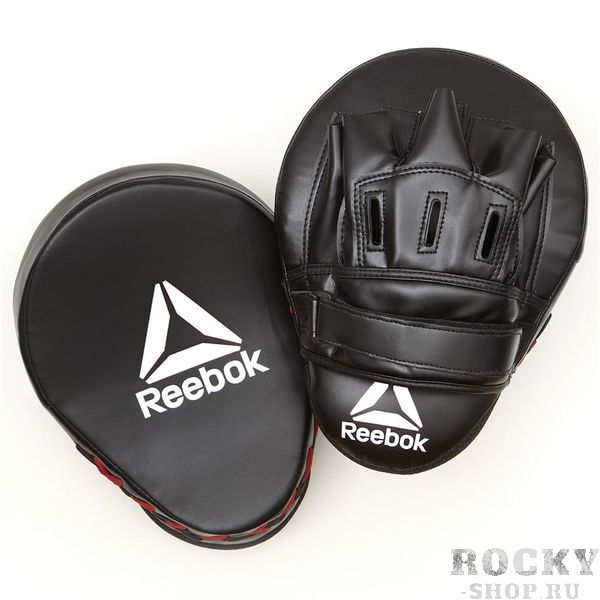 Лапы боксерские Reebok Retail Hook and Jab Pads - Black/Red