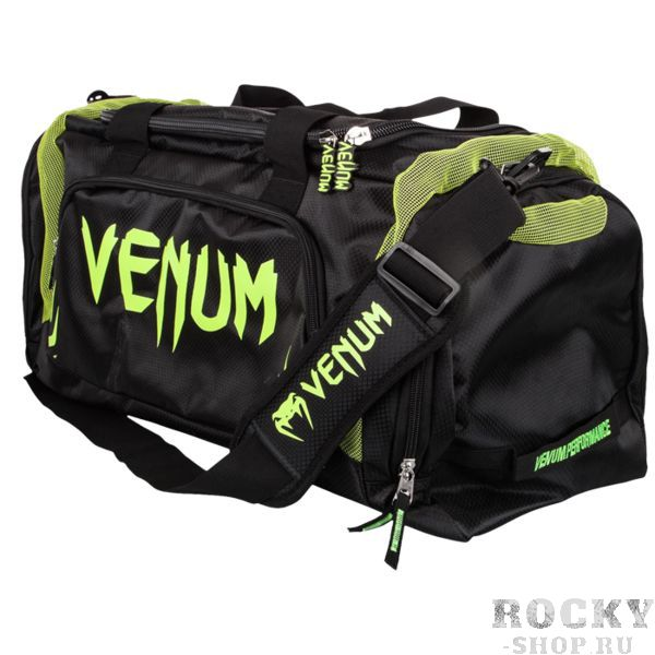 Спортивная сумка Venum Trainer Lite Black/Neo Yellow