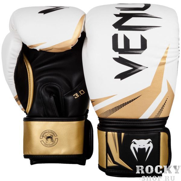 Перчатки Venum Challenger 3.0 White/Black-Gold