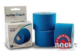 Кинезио тейп SpiderTech Kinesiology Sports Tape, синий